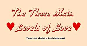 three_main_levels_of_love