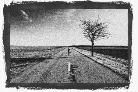 Man on Empty Road
