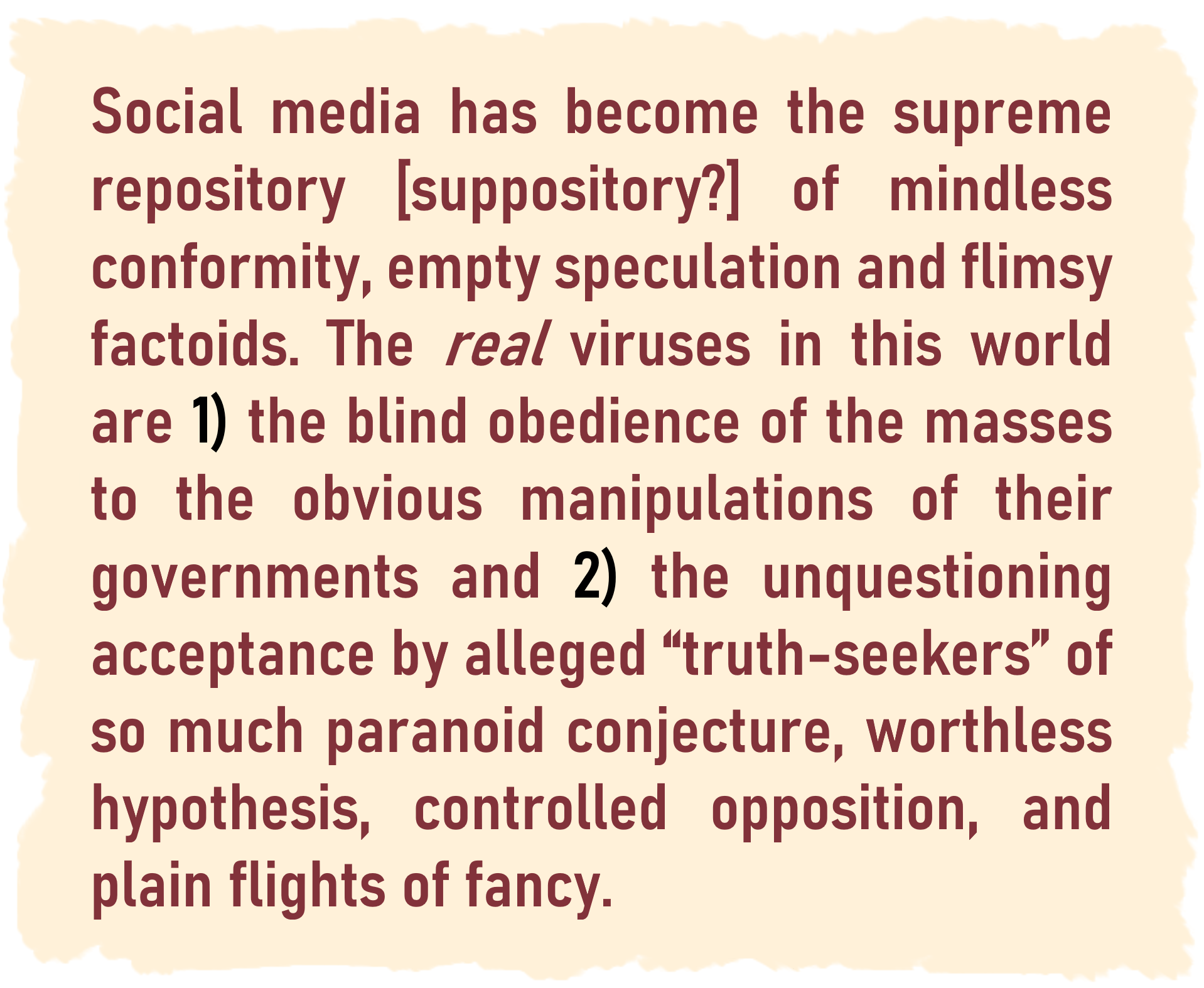 Social Media Suppository